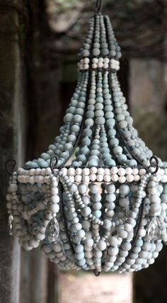 wood beaded chandelier                                                                                                                                                                                 More