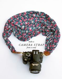 DIY Camera Strap: 23 Cool Summer Crafts | DIY Projects  Recipes | This scarf camera strap is one of our favorite pretty summer craft ideas | DIYReady.com