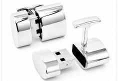 (Very James Bond) Polished Silver Oval WiFi Hotspot and USB Combination Cufflinks.my dream come true, real james bond gadgets Wi Fi, Usb Drive, Usb Flash Drive, Usb Stick, Tech Toys, Cool Technology, Latest Technology, Wearable Technology, Cufflinks