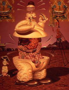 todd schorr pop surrealism paintings burger deluxe