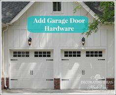 Garage Door Made Of Steel Painted White And Has Beautiful Windows And Hardware That Really Adds Charm To It S Simple And Sleek Design Learn More Garage Doors