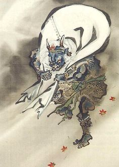 Tattoo Ideas & Inspiration - Japanese Art | Kawanabe Kyosai - Fujin, God of the Wind