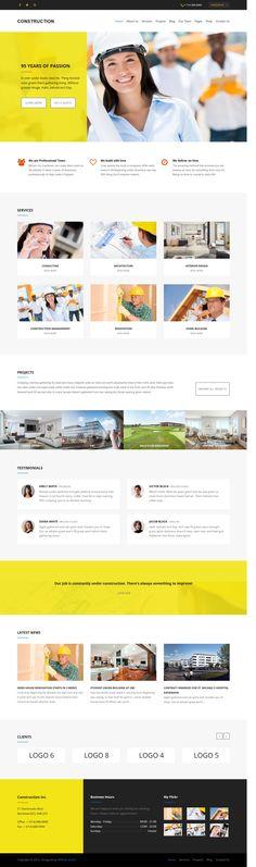 Agile - Building & Construction WordPress Theme | Roti, Diseño y ...