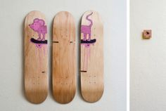 Stefan Rauter x Sitflip. Flipsie in pieces. Skateboard art. Skateboard chair.
