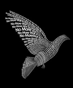 No more war bird | Anonymous ART of Revolution