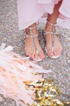 {Sandals for bridesmaids.}