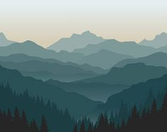 Image result for mountain silhouette