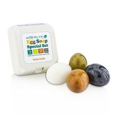 Holika Holika Egg Skin Soap Special Set: Charcoal Egg + White Egg + Red Clay Egg + Green Tea Egg - Skincare - StrawberryNET.com (USA)