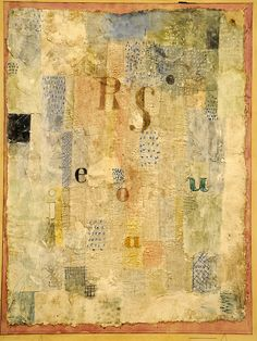 Paul Klee 1922 --- incredible techniques all pulled together.  Great mixed media / art journal inspiration!!!