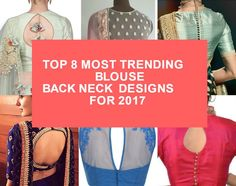 Top 8 Most Trending Blouse Back Neck Designs For 2017 • South India Fashion