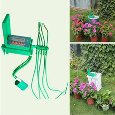 Automatic Micro Home Drip Irrigation Watering System Sprinkler with Smart Controller for Garden,Bonsai Indoor Use Product Description: indoor use only. use clean water only. Automatic water your plants and flowers precisely and at ea. Water Garden, Garden Hose, Garden Tools, Garden Grass, Garden Watering System, Sprinkler Controller, Water Timer, Drip Irrigation System, Micro House