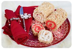 Peppermint Swirl Rice Krispies Roll Ups