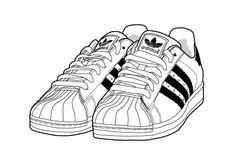 adidas superstar illustration by yula