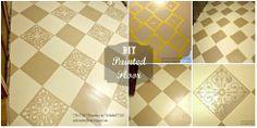 DIY Painted Wood Floor
