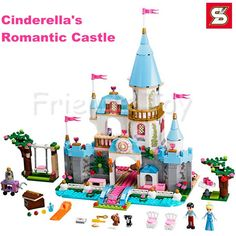 (44.39$)  Buy here - http://ai0tp.worlditems.win/all/product.php?id=32793438915 - 669pcs Cinderella's Romantic Castle Princess Series Building Brick Block Toy Figure Girls Friends Lepin 41055