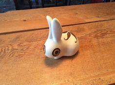 Mid Century Vintage Retro Strawberry Hill Pottery Bunny Rabbit Figurine | eBay