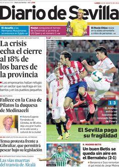 Los Titulares y Portadas de Noticias Destacadas Españolas del 19 de Agosto de 2013 del Diario de Sevilla ¿Que le pareció esta Portada de este Diario Español?