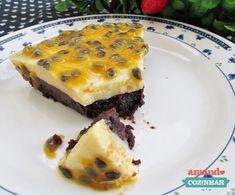 Torta Mousse de Chocolate e Maracujá
