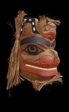 Bear Frog and Eagle Mask by artist   Lyle Campbell -   Haida Nation