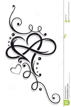 Tribal Heart Large Infinity Loop Stock-Vektorgrafik (Lizenzfrei) 1008874423 – foot tattoos for women