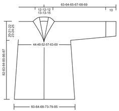 Strikket DROPS jakke med sjalskrave i Puddel. Str S - XXXL Gratis opskrifter fra DROPS Design.