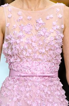 Superb color and exquisite embroidery Saab Couture S/S 2012