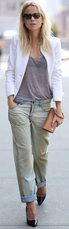#Street #Style: #Boyfriend's #Jeans