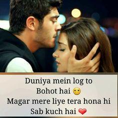 Bahut bahut acha likha h isme my life True Love Qoutes, Muslim Love Quotes, Love Quotes Poetry, Love Picture Quotes, Love Quotes In Hindi, Cute Love Quotes, Desi Quotes, Romantic Quotes For Wife, Secret Love Quotes
