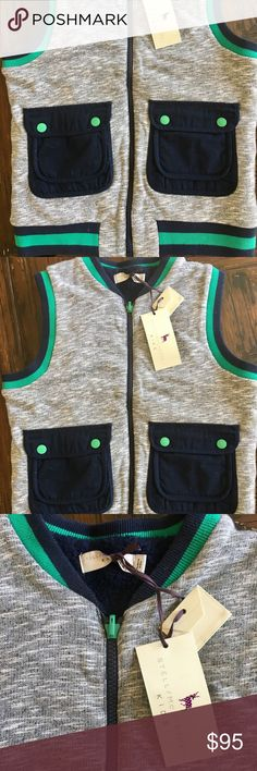 NWT Stella McCartney Kids Boys Vest 10 yrs Brand new, with tags. Faux shearling lining. Gorgeous quality. Organic cotton. Jackets & Coats Vests