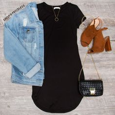 Downtown Basic Dress - Black