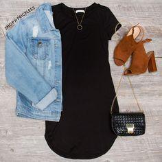 Downtown Basic Dress - Black