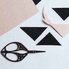 DIY triangle et cerf en papier pour déco murale de chambre d'enfant