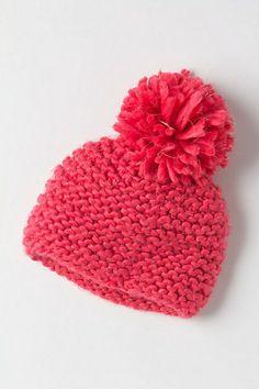 .bulky yarn in garter stitch. no pattern