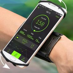 VUP iPhone X/ 7 Plus/ Plus Wristband, Rotatable Phone Holder Forearm Armband Ideal for Jogging Running Compatible with Samsung Galaxy & Smartphone (Black) Smartphone, Pouch Bag, Bag Tag, Portable, Courses, 6s Plus, Jogging, Samsung Galaxy, Sacks