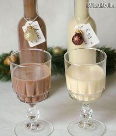 Recept na domáci vaječný a čokoládový likér Christmas Cooking, Christmas Diy, Mason Jar Wine Glass, Yummy Drinks, Coco, Smoothies, Food And Drink, Ice Cream, Cooking Recipes