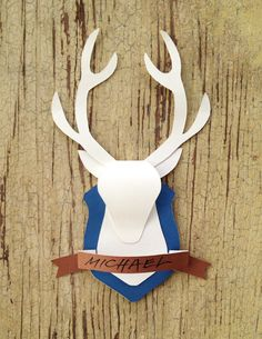 Day 41: Paper Deer Mount Card (from Cathe Holden on HP Create) - The Paper Mama