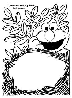 Birds Nest Coloring Page Printable