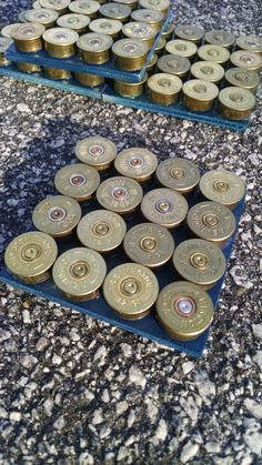 4 Shotgun Shell Drink Coaster-Sets by SouthernHomeArt on Etsy