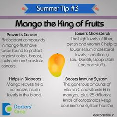 "Mango ""The King of Fruits"" is here ! Did you know mango has a lot of health benefits...So have a mango stay healthy and happy !!  Doctors' Circle -Care at your fingertips !! #healthtip #doctorscircle #mango #health"