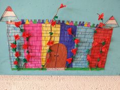 Het kasteel van Doornroosje Medieval Art, Kids Playing, Fairy Tales, Art Projects, Kindergarten, School, Crafts, Art Designs, Boys Playing