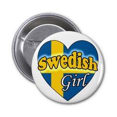 Swedish Girl Speld Buttons Swedish Girls, Buttons, Plugs