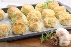 What's a family dinner without homemade biscuits!? Give these rosemary and garlic flavoured biscuits a try for your next dinner get together!