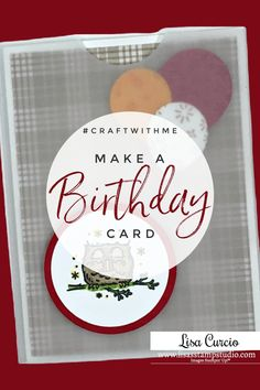 Come on and #craftwithme! Let's make a birthday card with vellum paper and a cute design. You can use this idea to make lots of creative Birthday Cards Images, Unique Birthday Cards, Birthday Cards For Friends, Handmade Birthday Cards, Happy Birthday Cards, Card Making Supplies, Card Making Tutorials, Card Making Techniques, Handmade Cards For Friends
