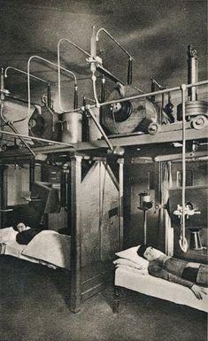 Pacientes recibiendo terapia de Radio, a principios del siglo XX.