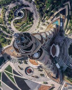 Burj Khalifa from Above Dubai U.A.E.[1080x1350]