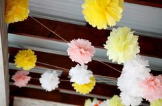 DIY Tissue Paper Flowers. Nice idea if I can figure out where they fit in