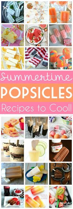 Summertime Popsicle Recipes – Cool Off Your Hot Days! Summer Kids Idea and Cold Snack Ideas to cool you off from some of the best bloggers on the web. Details on Frugal Coupon LIving. Summer Desserts, Frozen Desserts, Summer Treats, Summer Snacks, Desserts Glacés, Frozen Treats, Dessert Recipes, Snaks, Alcohol Popsicles