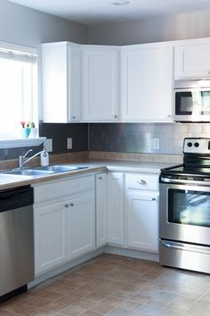 a fresh coat of paint on your kitchen cabinets is one of