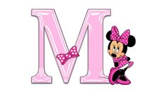 Minnie Mouse Pink Alphabet ~ M