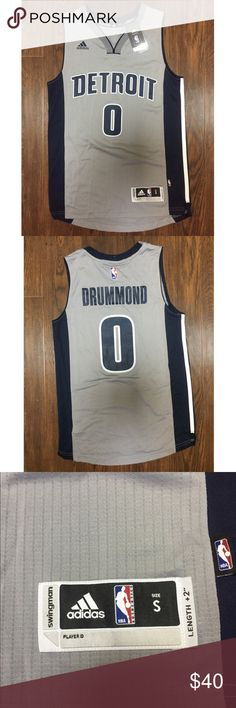 super popular 010f4 2589e detroit pistons 0 andre drummond gray stitched nba jersey
